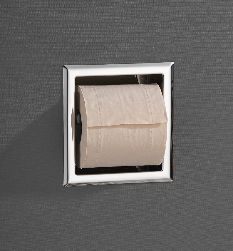 Saniclear Talpa inbouw toiletrol houder zonder klep chroom
