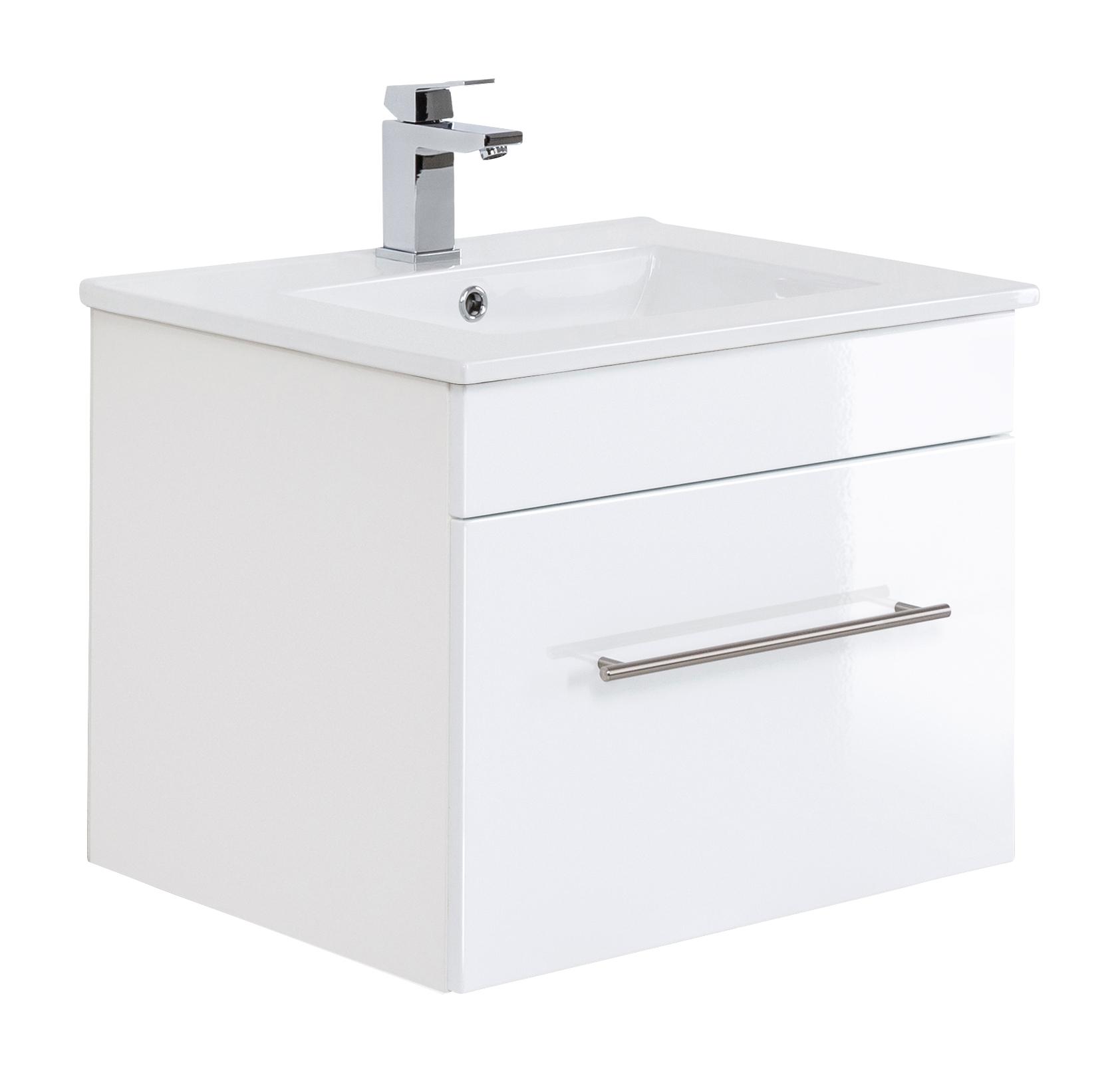 Saniclear Viva badkamermeubel 60cm hoogglans wit