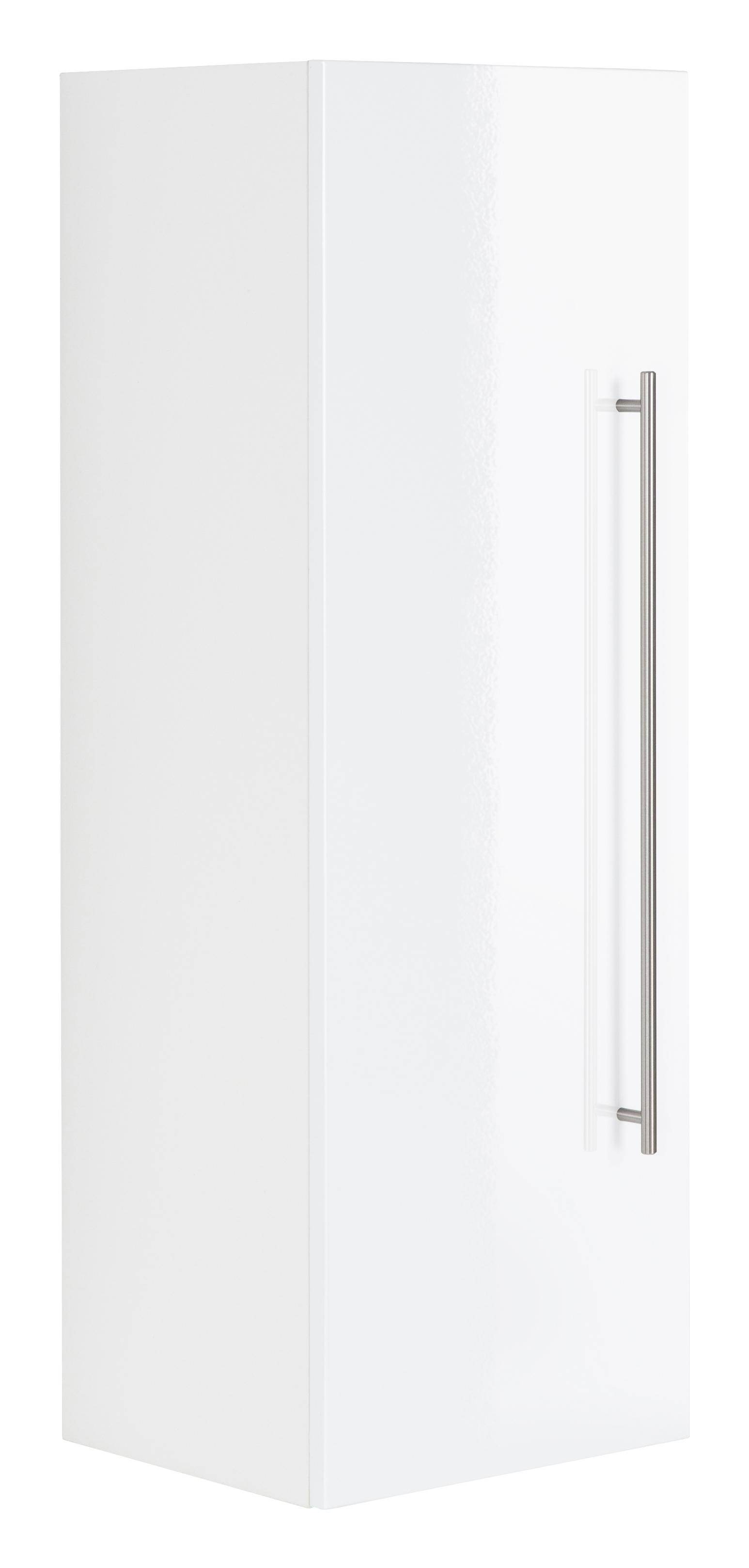 Saniclear Viva kolomkast 100x35x30cm hoogglans wit