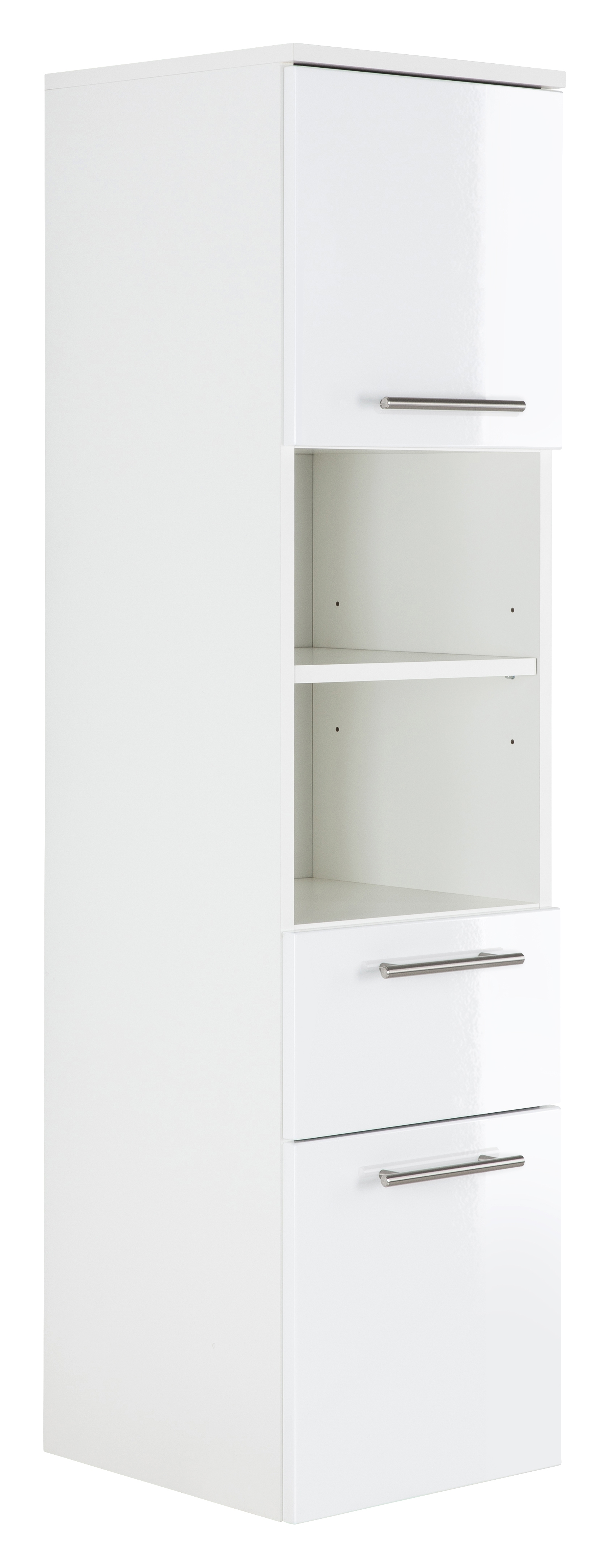 Saniclear Viva kolomkast 135x35x37cm hoogglans wit