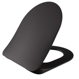 Sanigoods Alpha soft-close toiletzitting mat zwart