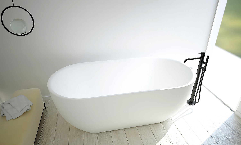 SaniGoods Amalia vrijstaand bad mat wit 170x80cm