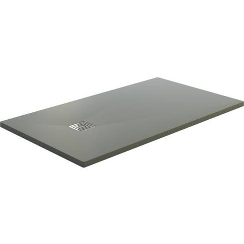 SaniGoods Slate composiet douchebak mat grijs 160x90cm anti-slip
