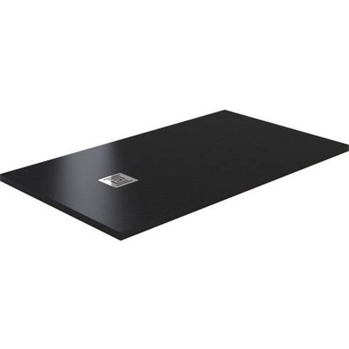 SaniGoods Slate composiet douchebak zwart 140x90cm anti-slip