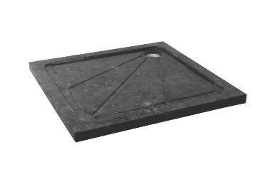Saniscape Gaia douchebak 90x90 vierkant natuursteen