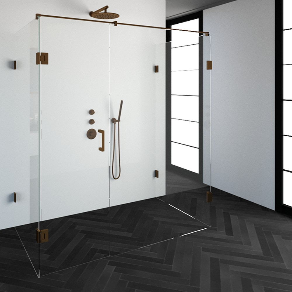 Productafbeelding van Sanituba Complete Profielloze Douchecabine XL 100x180cm koper
