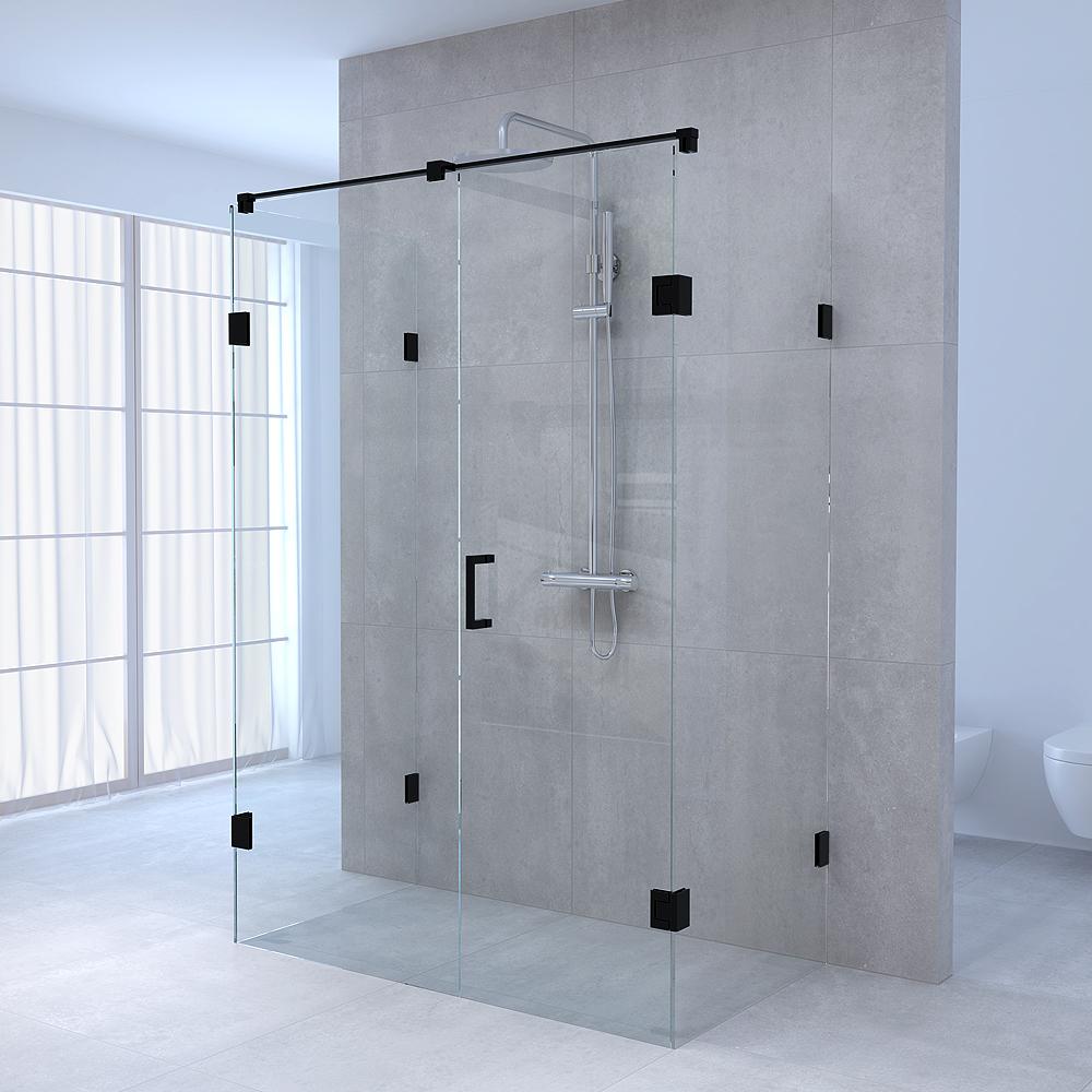 Productafbeelding van Sanituba Complete Profielloze Douchecabine XL 80x180 cm Zwart Mat