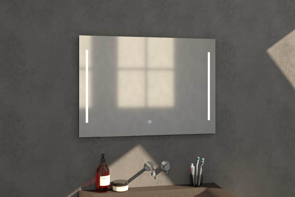 Sanituba Deline spiegel 100×70 met LED verlichting Aluminium Geborsteld kopen doe je het voordeligst hier