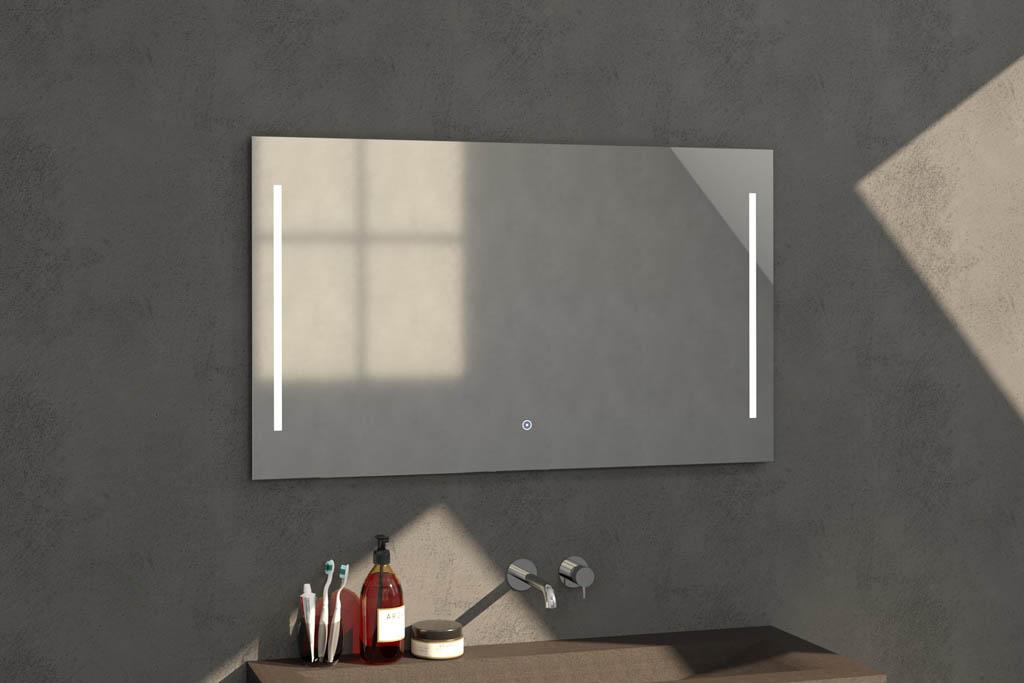 Sanituba Deline spiegel 120×70 met LED verlichting Aluminium Geborsteld kopen doe je het voordeligst hier