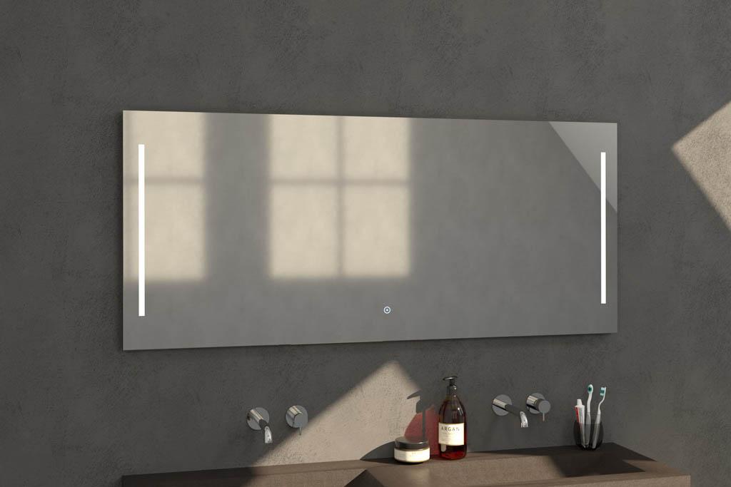 Sanituba Deline spiegel 160×70 met LED verlichting Aluminium Geborsteld kopen doe je het voordeligst hier