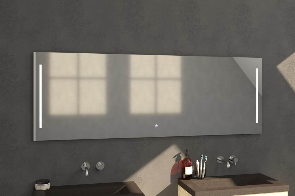 Sanituba Deline spiegel 200×70 met LED verlichting Aluminium Geborsteld kopen doe je het voordeligst hier
