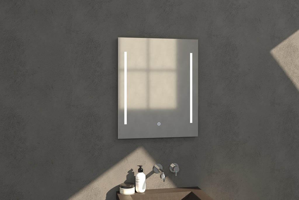 Sanituba Deline spiegel 60×70 met LED verlichting Aluminium Geborsteld kopen doe je het voordeligst hier