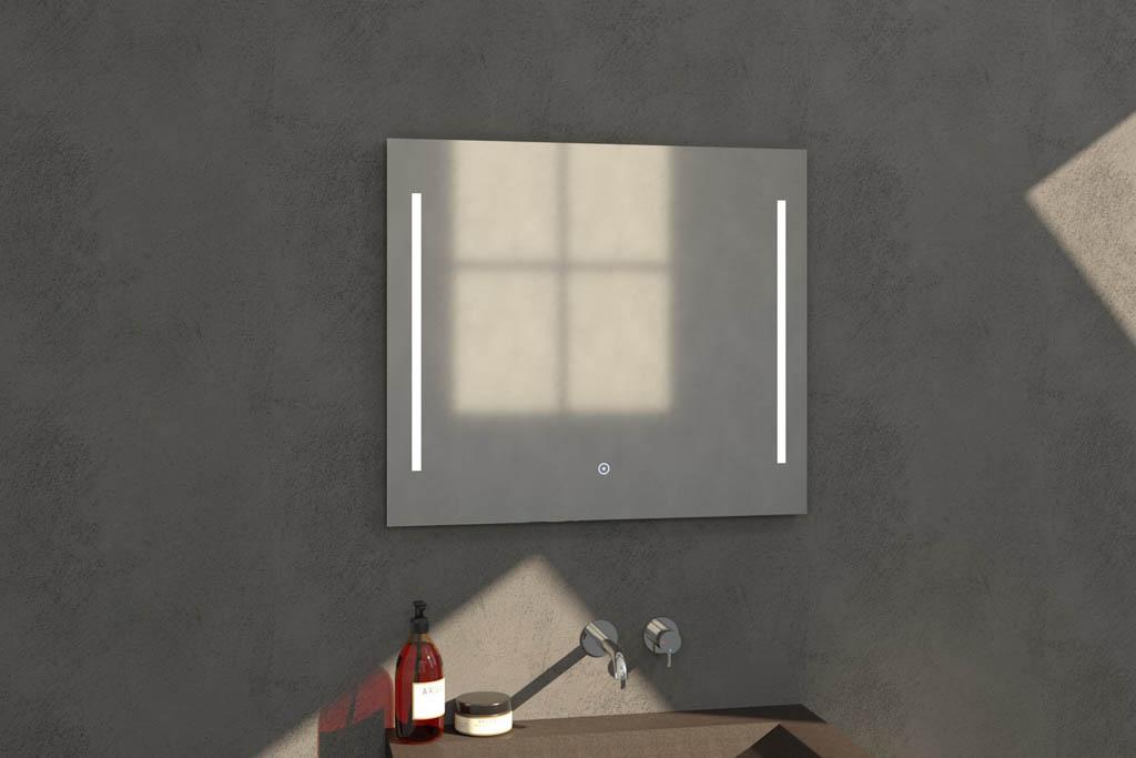 Sanituba Deline spiegel 80×70 met LED verlichting Aluminium Geborsteld kopen doe je het voordeligst hier