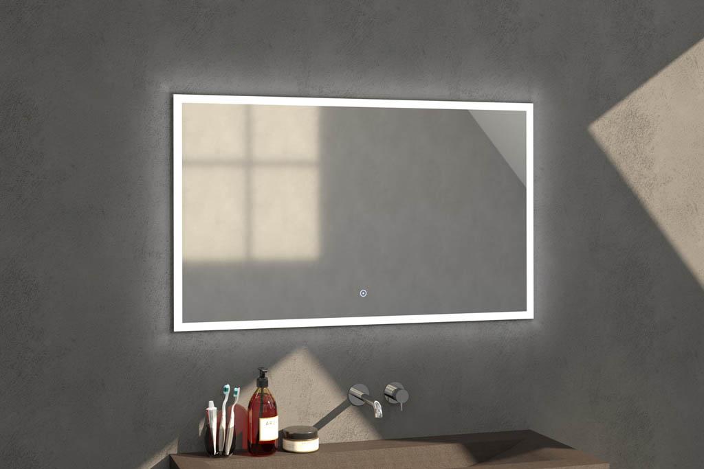 Sanituba Edge spiegel 120×70 met LED verlichting Aluminium Geborsteld kopen doe je het voordeligst hier