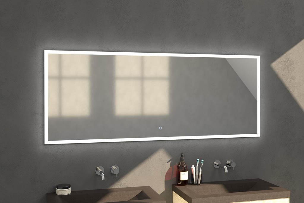 Sanituba Edge spiegel 180×70 met LED verlichting Aluminium Geborsteld kopen doe je het voordeligst hier