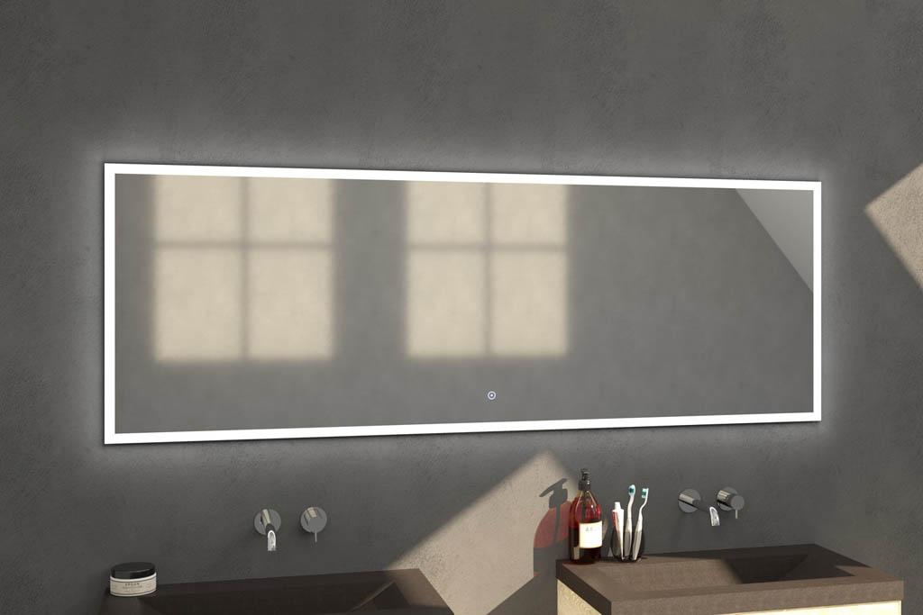 Sanituba Edge spiegel 200×70 met LED verlichting Aluminium Geborsteld kopen doe je het voordeligst hier