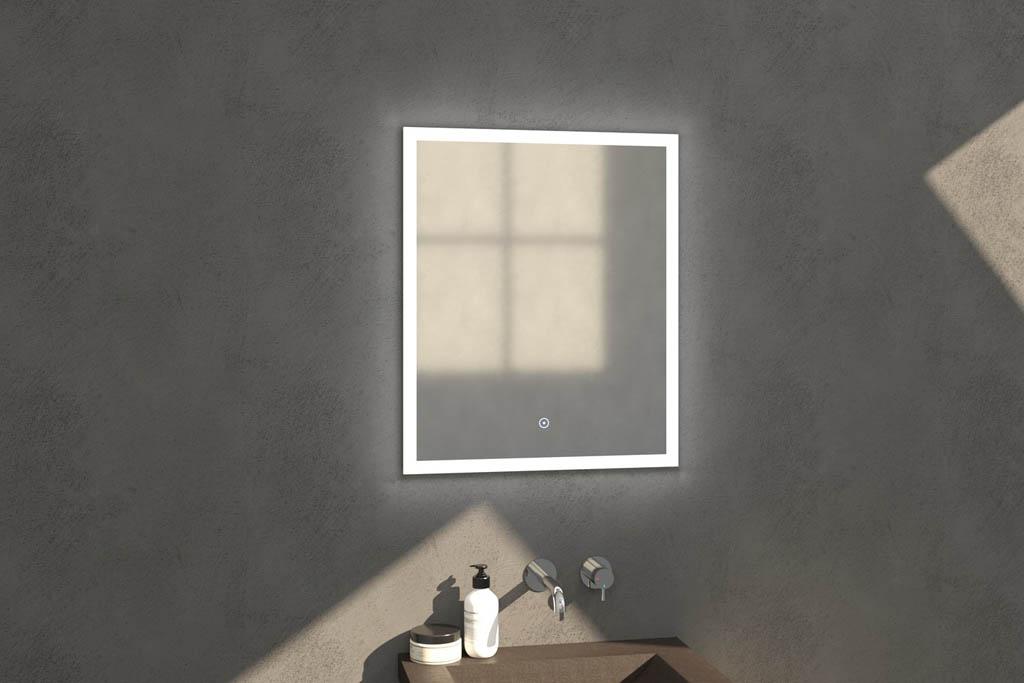 Sanituba Edge spiegel 60×70 met LED verlichting Aluminium Geborsteld kopen doe je het voordeligst hier