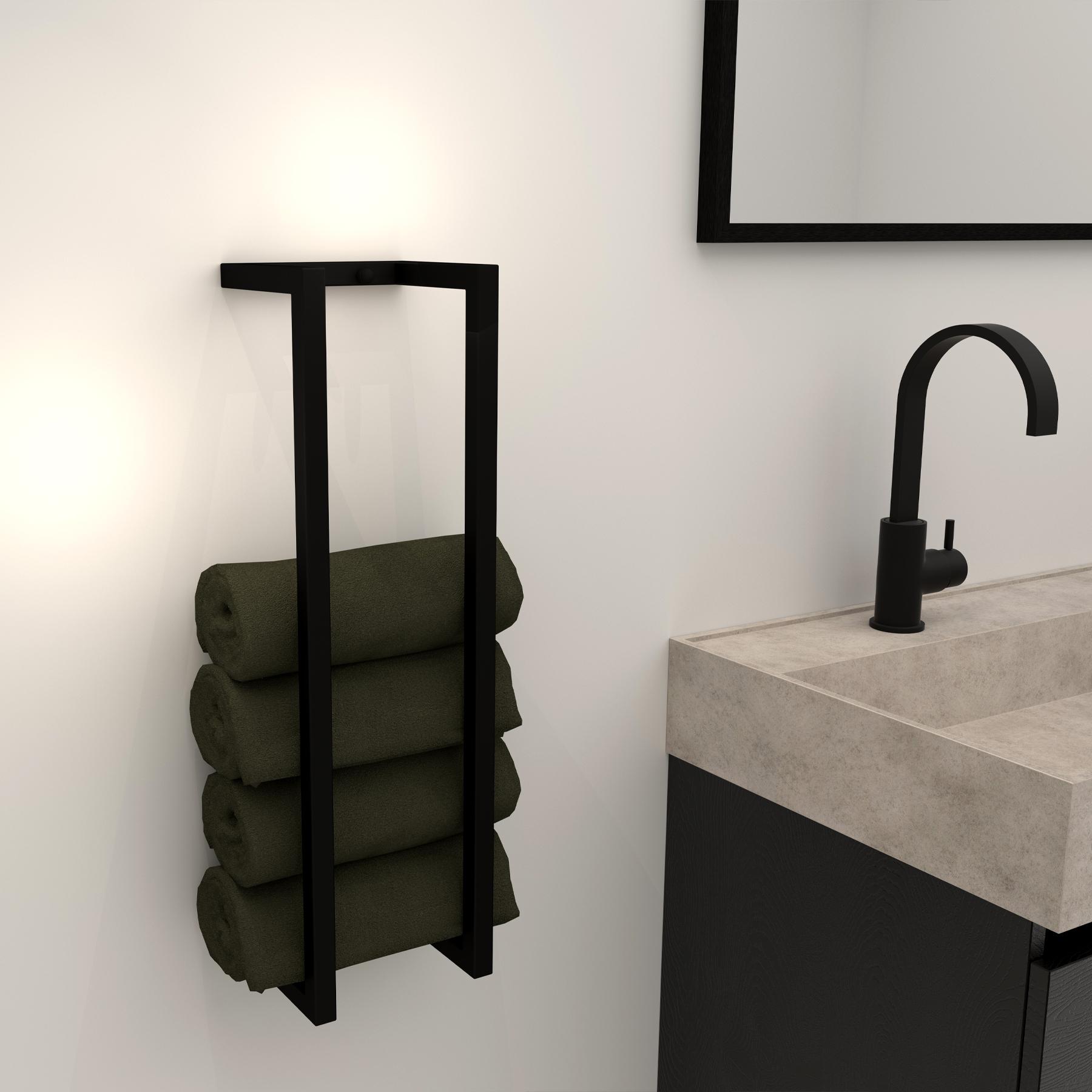 Sanituba industrieel handdoek beugel mat zwart