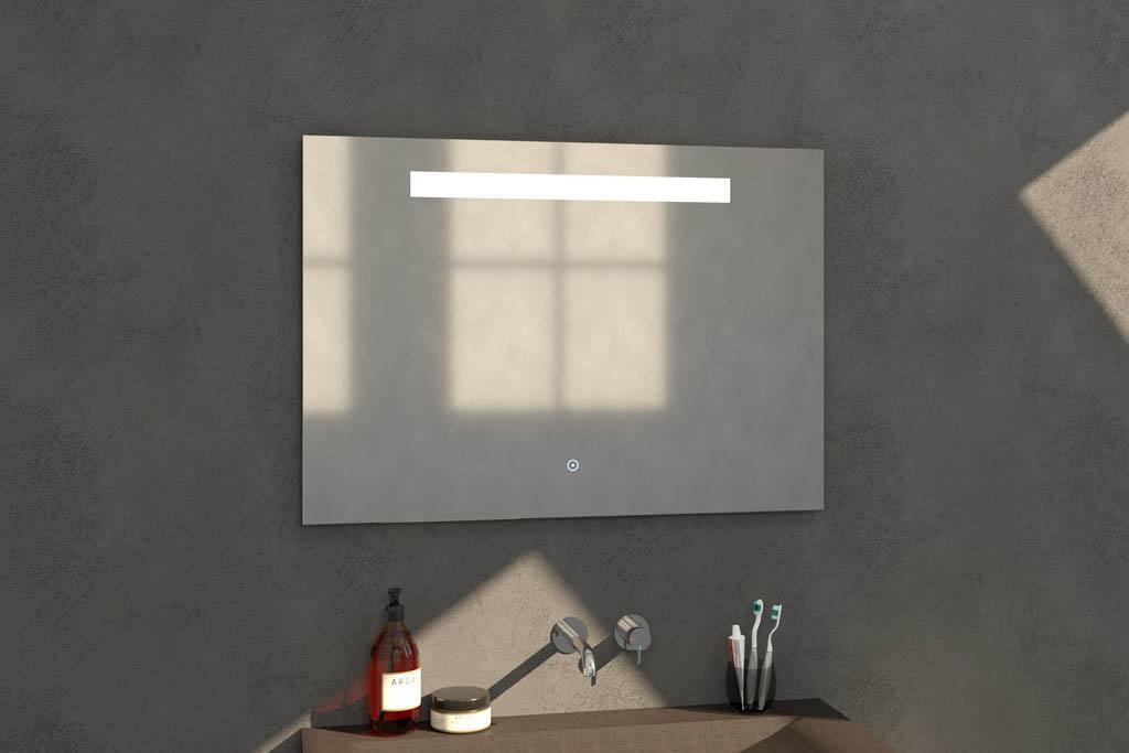 Sanituba Light spiegel 100×70 met LED verlichting Aluminium Geborsteld kopen doe je het voordeligst hier