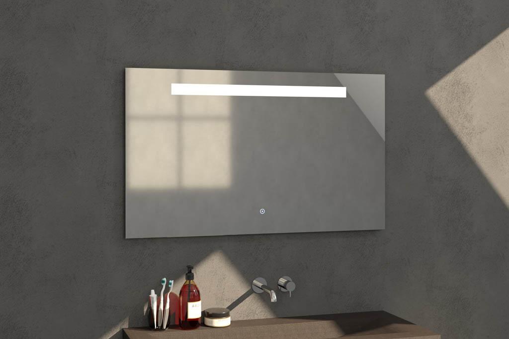 Sanituba Light spiegel 120×70 met LED verlichting Aluminium Geborsteld kopen doe je het voordeligst hier