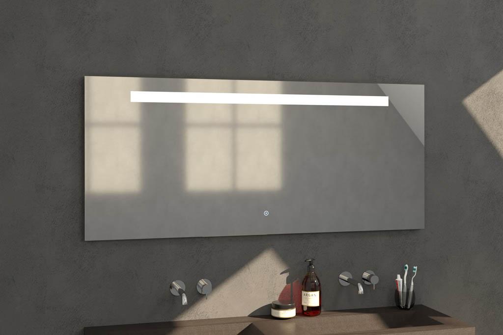 Sanituba Light spiegel 160×70 met LED verlichting Aluminium Geborsteld kopen doe je het voordeligst hier