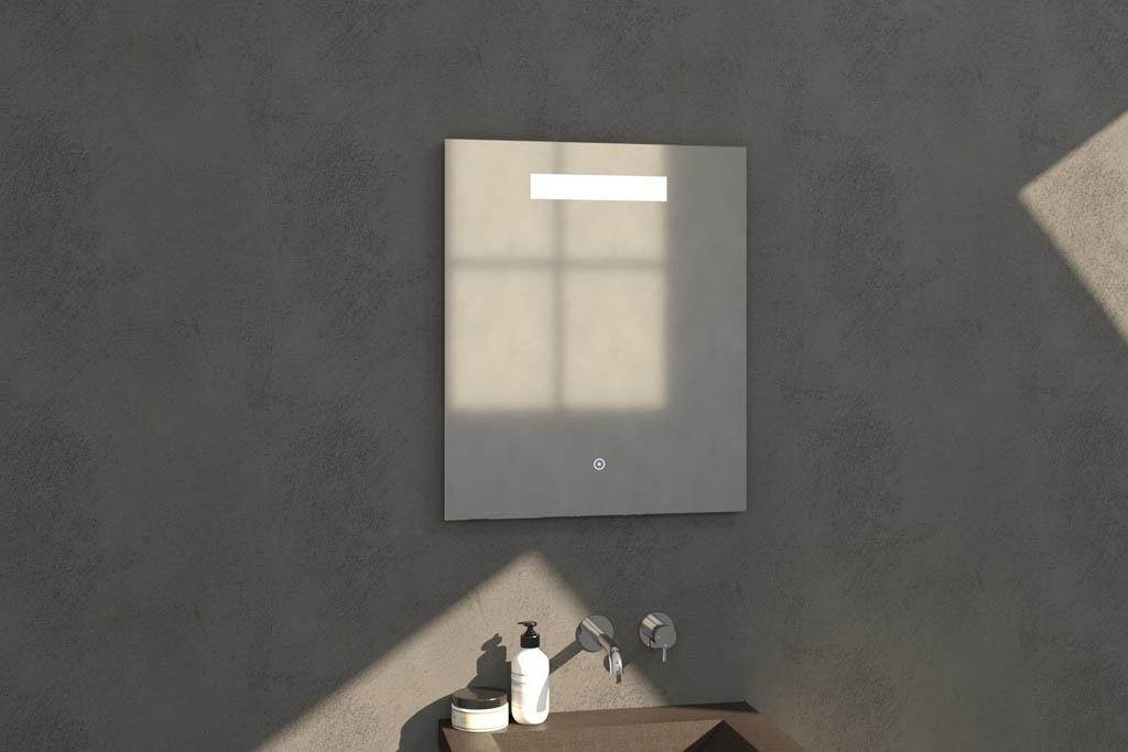 Sanituba Light spiegel 60×70 met LED verlichting Aluminium Geborsteld kopen doe je het voordeligst hier