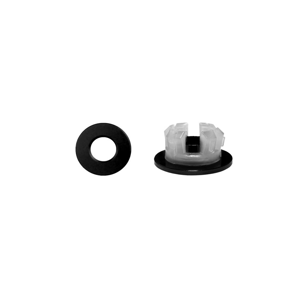 Overloopring Sanitop Voor Wastafel 30mm Zwart (Geschikt voor 18 t-m 25 mm)