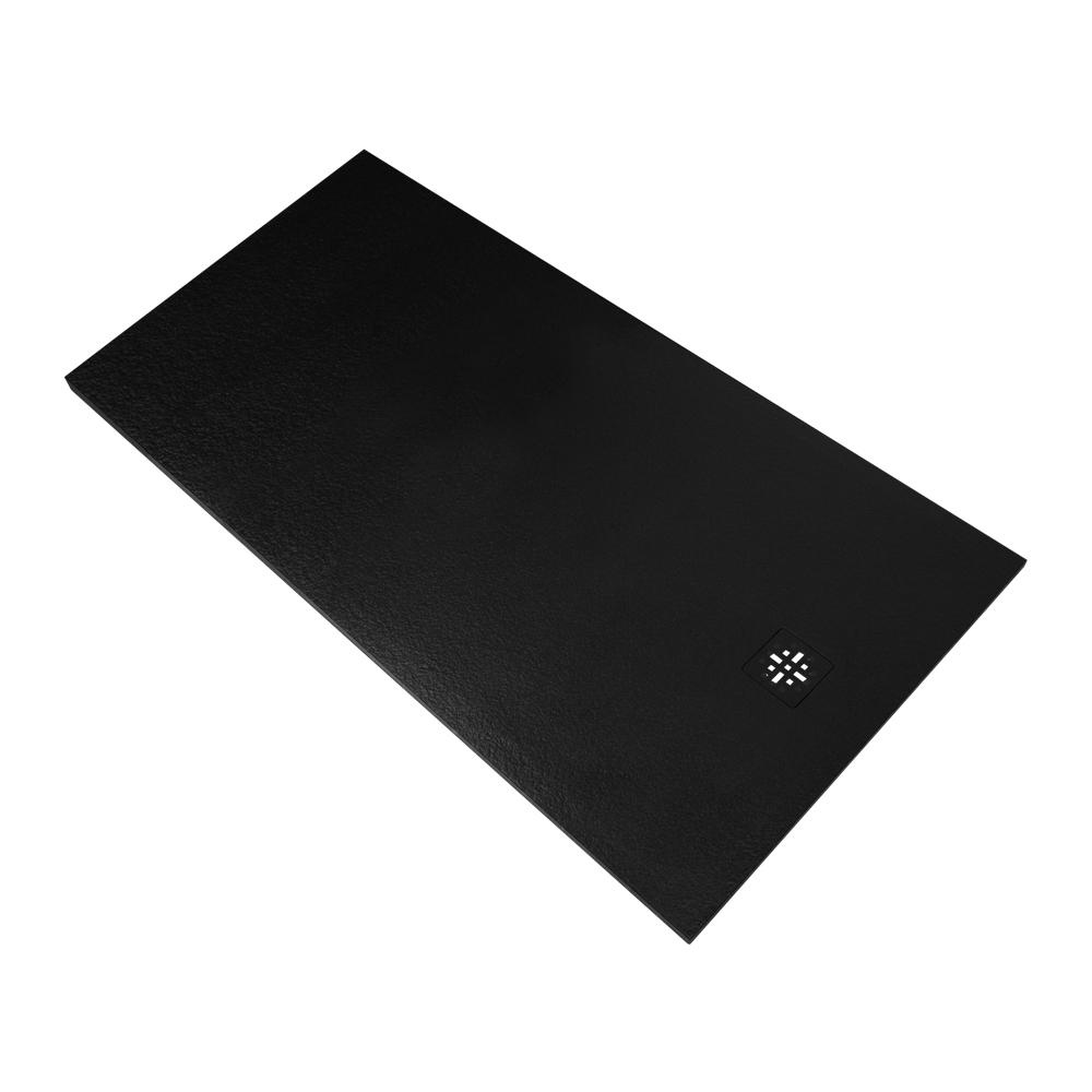 Sanituba Relievo douchebak fine stone 100x160 mat zwart