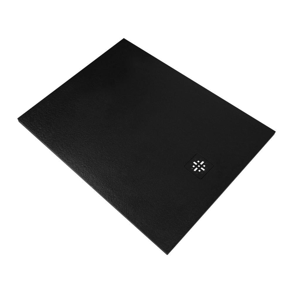 Sanituba Relievo douchebak fine stone 90x120 mat zwart