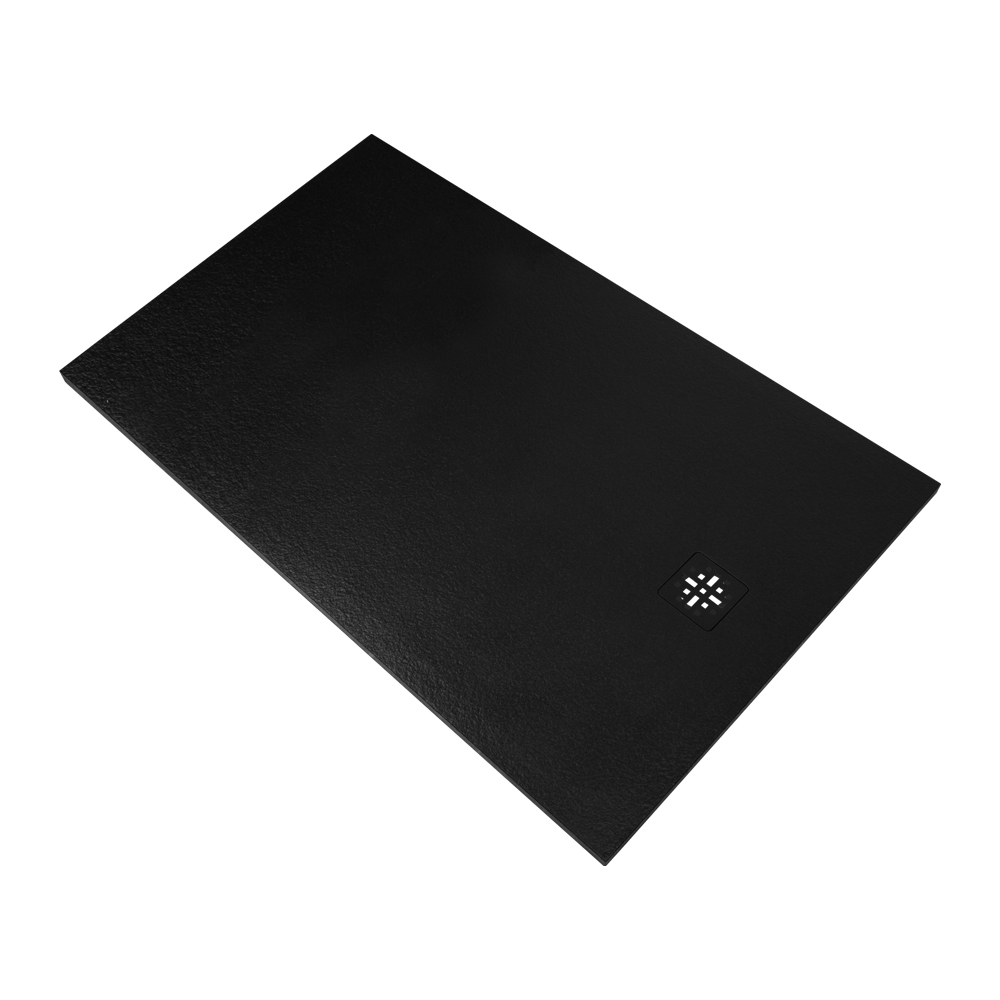 Sanituba Relievo douchebak fine stone 90x140 mat zwart