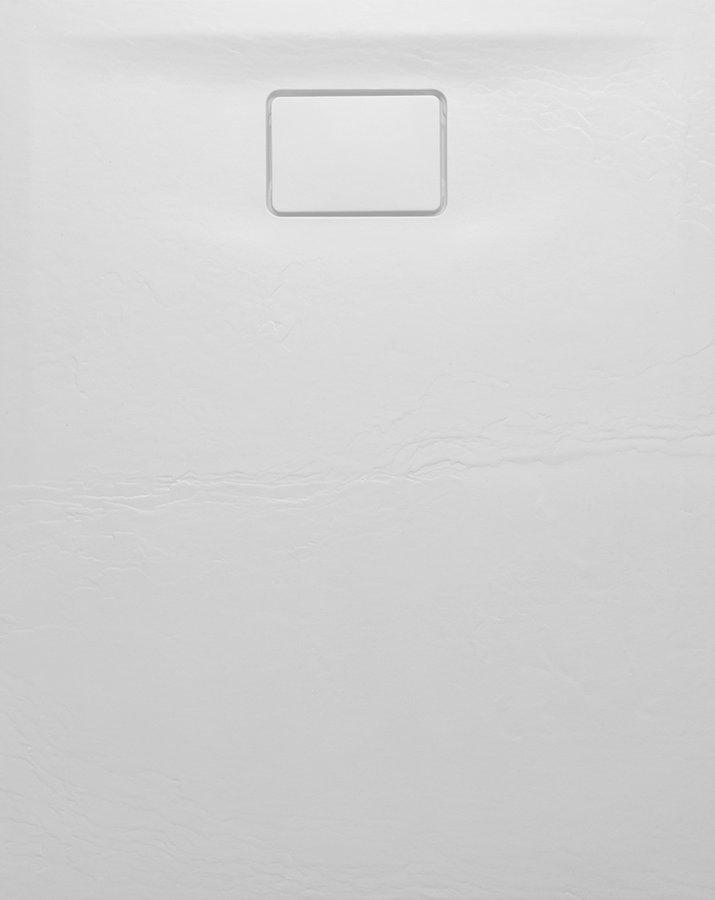 Productafbeelding van Sapho Acora douchebak wit composiet 100x80cm steen decor