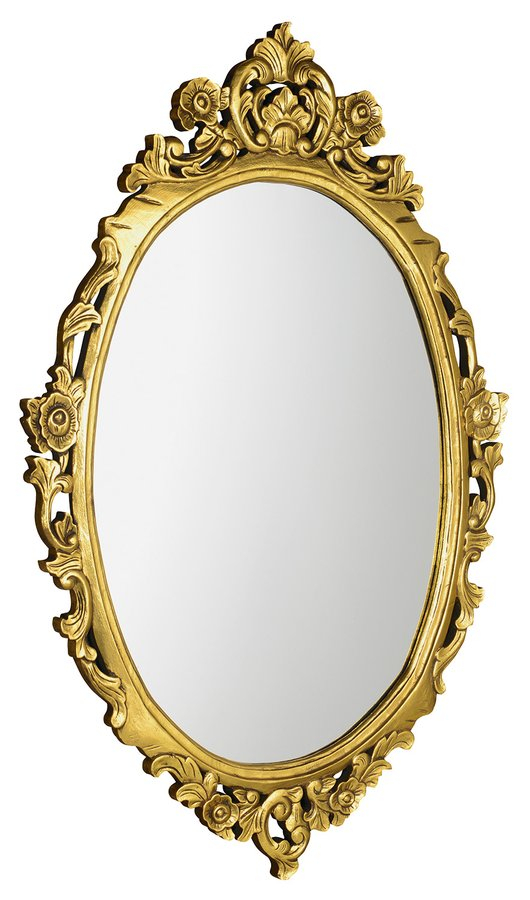 Sapho Desna ovale barok spiegel goud 80×100