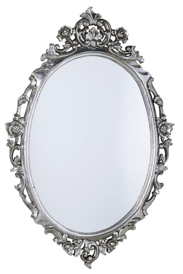 Sapho Desna ovale barok spiegel zilver antique 80×100