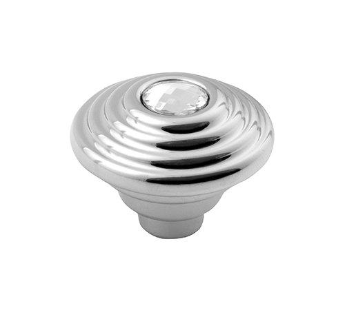 Sapho deurknop chroom met diamant 30mm