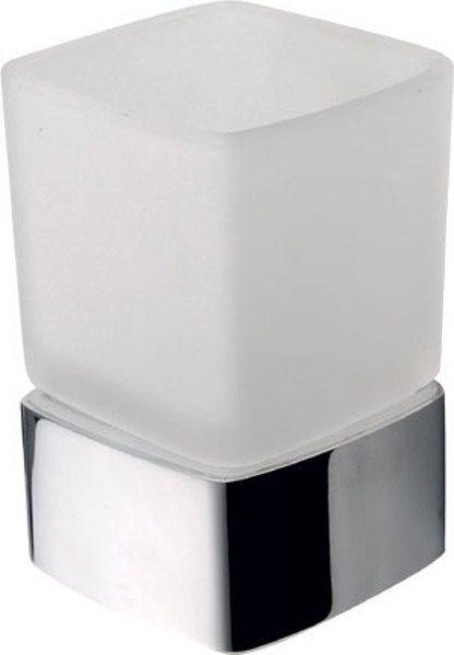 Sapho Everest glashouder met glas chroom