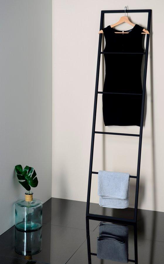 Sapho Industrial handdoek rek mat zwart 170x42cm