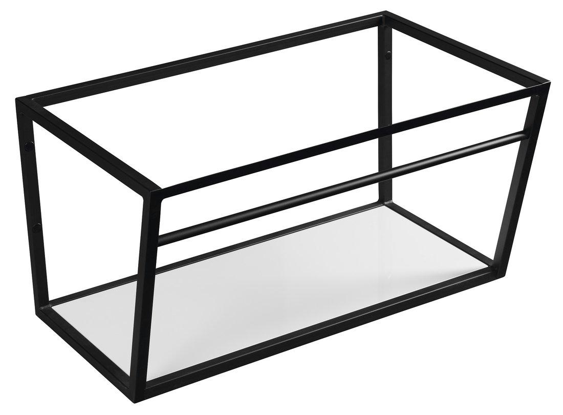Sapho Industrial wastafel frame mat zwart 75cm