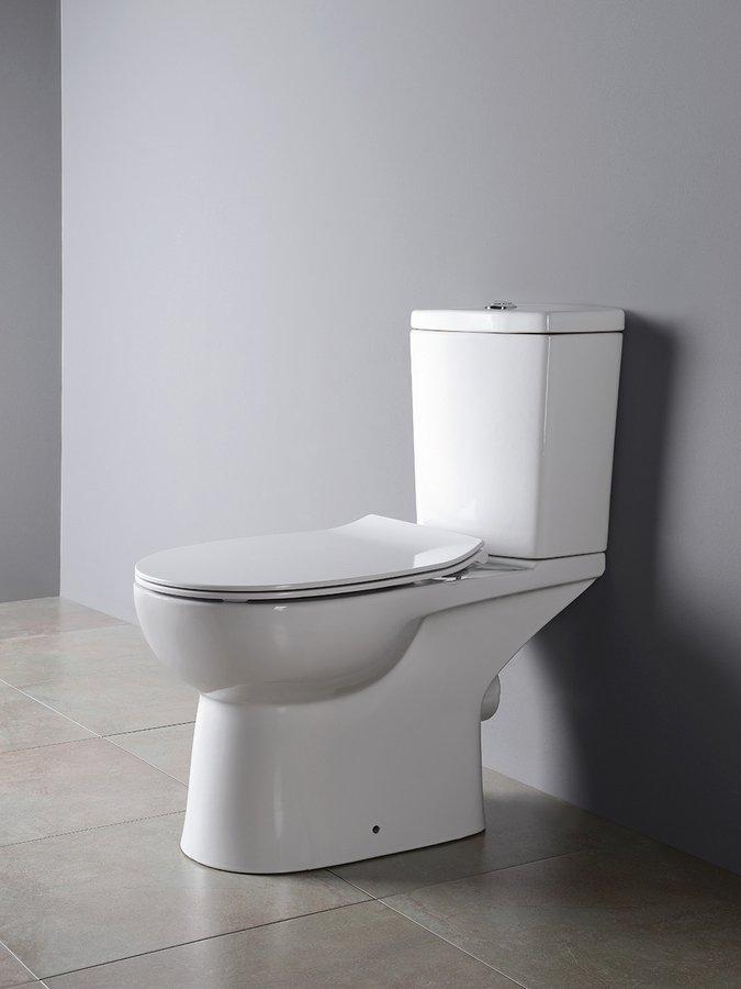 Sapho Kario duoblok staand toilet wit