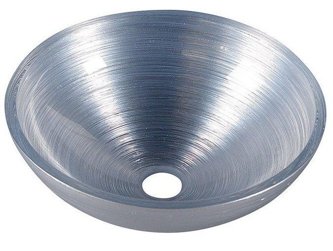 Sapho Murano glazen waskom 40cm zilver