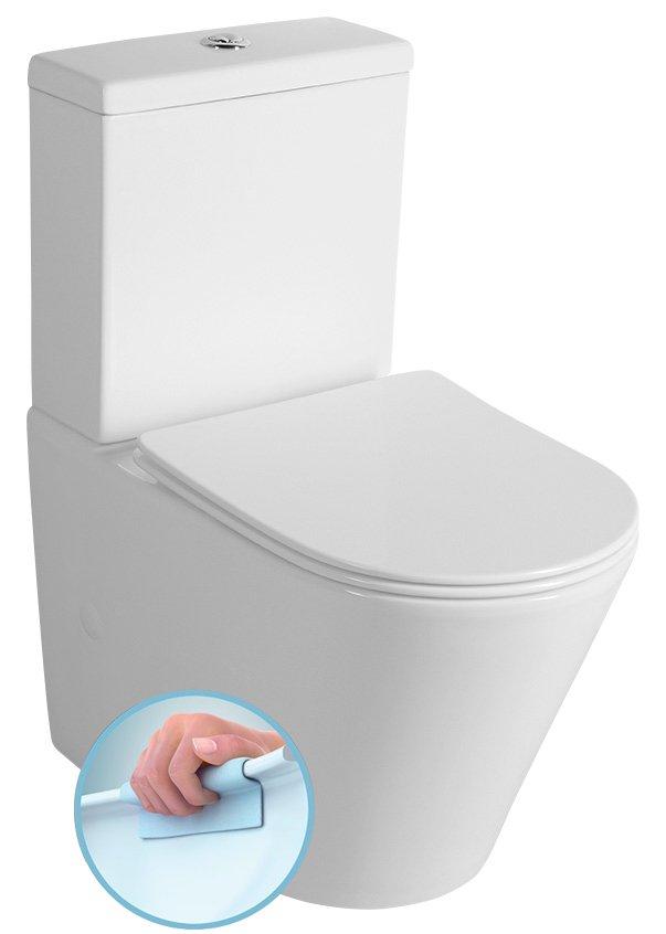 Sapho Paco duoblok toilet randloos wit