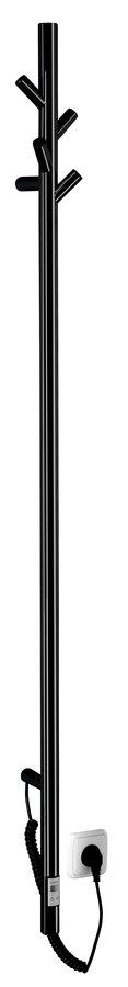Sapho Pasador elektrische verticale radiator mat zwart 150cm 30Watt