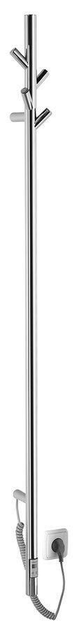 Sapho Pasador elektrische verticale radiator RVS 150cm 30Watt