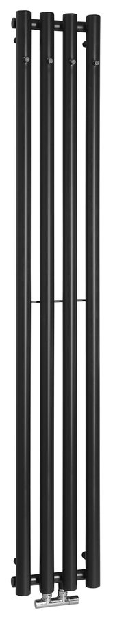Sapho Pilon radiator 27x180cm mat zwart