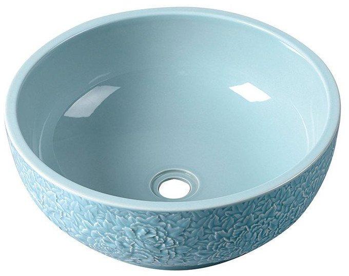 Sapho Plata keramische decoratie waskom 43cm hemel blauw