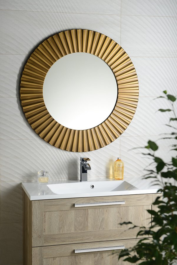 Sapho Pride bronze ronde spiegel 90cm
