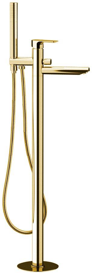 Sapho Spy vrijstaande badkraan goud