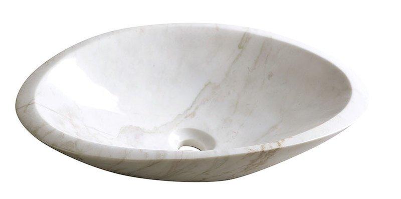 Sapho Tucuman marmer waskom 58x38cm gepolijst wit