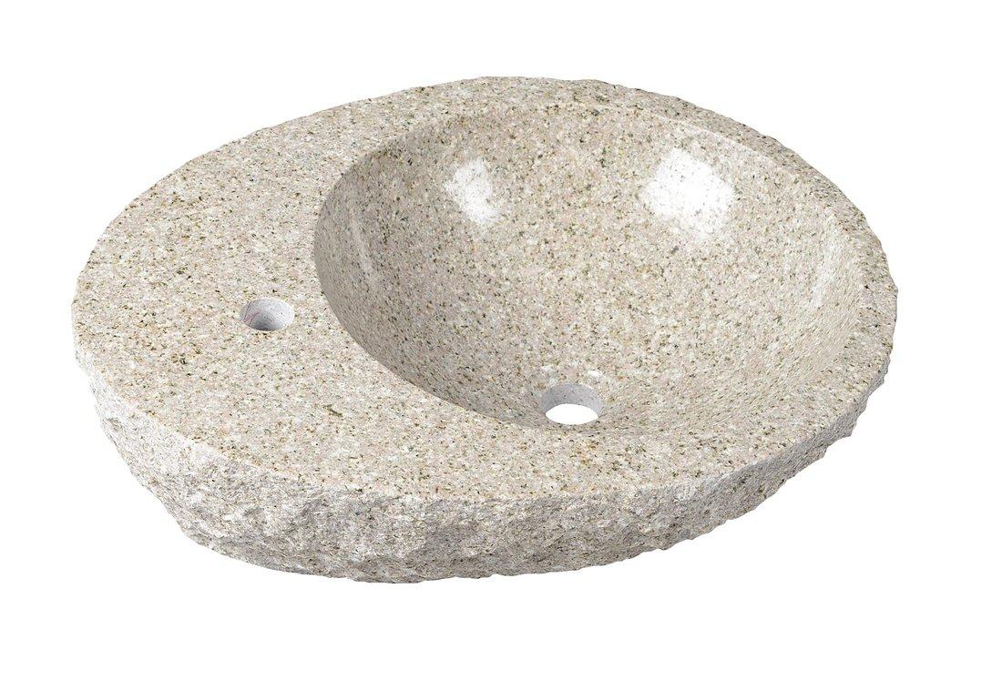 Sapho Tucuman stenen waskom 56x46x15cm licht gekleurd met kraangat