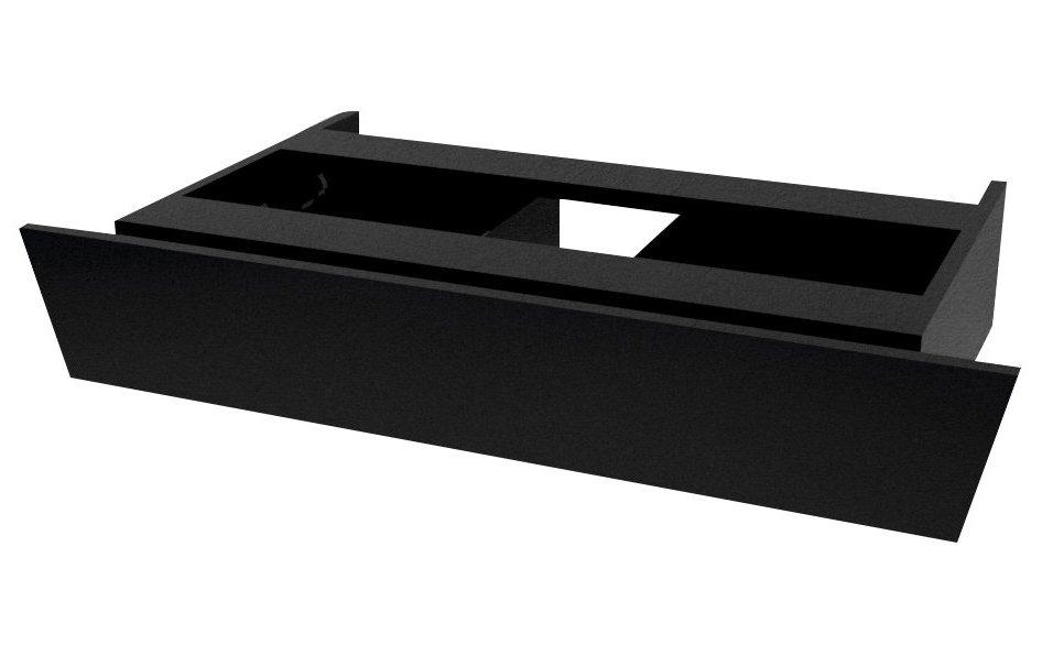 Sapho Twiga Plus wastafellade 88.5x17 mat zwart
