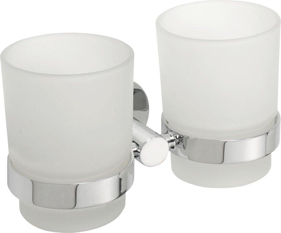 Sapho X-Round dubbele glashouder chroom